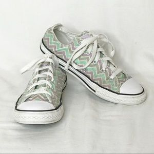 Converse All Star Low Top Chevron Print Sneakers